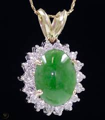 imperial jadeite jade diamond 18k gold