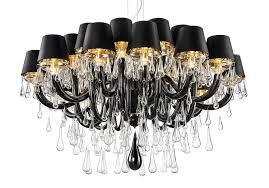 large black murano glass chandelier