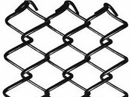 Chain Link Fence Fabric Black Galv Pvc Or Aluminum Coated