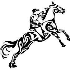 Tribal Cowboy Horse Rodeo Western Car Truck Window Laptop Vinyl Decal Sticker Western Rodeo Decals Wall Art Sticker Home Decor Sticker Dandelion Sticker Wall Decordecorative Sticker Paper Aliexpress
