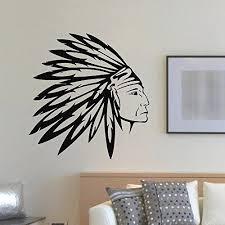 Amazon Com Wall Decal Vinyl Sticker People Native American Indian Man Tribal Decor Sb891 Indian Wall Art Sticker Wall Art Tribal Decor