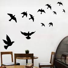 Community Unit School Kindergarten Corridor Aisle Stage Layout Flying Birds And Peace Pigeon Wall Stickers
