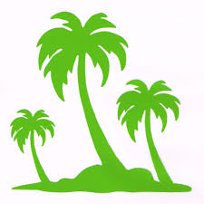 Lime Green Palm Trees Auto Decal Car Decor