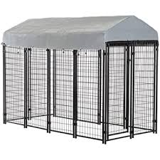 Amazon Com Bestpet Heavy Duty Dog Cage Outdoor Pet Playpen This Pet Cage Is Perfect For Containing Small Dogs And Animals Included Is A Roof And Water Resistant Cover Pet Supplies