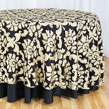 118 in round baroque sheer tablecloth gold
