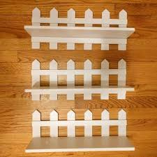 Find More Set Of 3 Wall Shelves Shelving White Picket Fence Design For Sale At Up To 90 Off