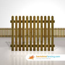 Rounded Picket Fence Panels 5ft X 6ft Brown Berkshire Fencing