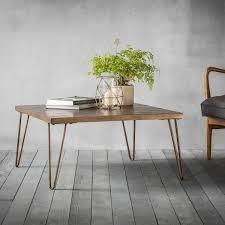 bronx geometric tiled coffee table gold