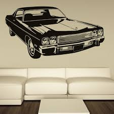 Retro Car Sticker Old Ford Mustang Decal Wall Art Vinyl Decor School Dorm Living Room Bedroom Home Office Mural Stencil Home Office Retro Car Stickersliving Room Aliexpress
