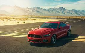 red ford mustang wallpaper background