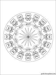 Mandala Met Uilen Gratis Kleurplaten