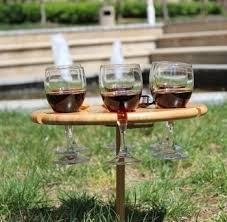 portable bamboo picnic table tray with
