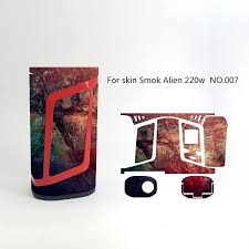 Alien 220w Skin Wraps Sticker Cases Cover For Smok Alien 220 Watt Tc Box Mod Vape Protective Film Stickers With Fashion 18 Pattern Coil Winder Machine Coil Wraps From Alexstore 1 66 Dhgate Com