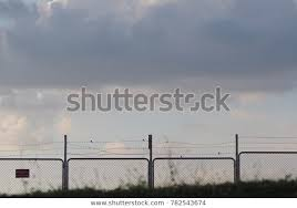 Fence Wall Sign Not Freedom Protection Abstract Stock Image 782543674