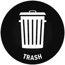 Trash Can Sign 2 Vinyl Decal Sticker