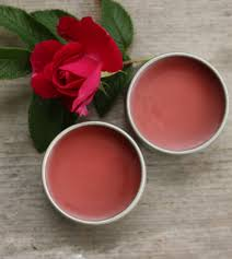 peppermint rose lip balm