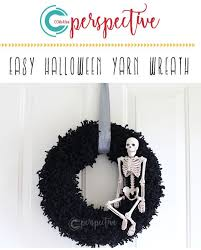 Perspective by CCMcAfee — DIY Halloween Wreath - Yarn and Skeleton - BLOG |  Diy halloween wreath, Halloween diy, Halloween wreath