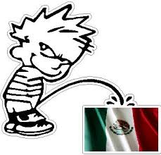 Pee On Mexican Flag Decal Sticker