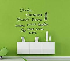 family is beautiful love strength family words quotes wall