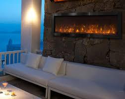 electric fireplace w black
