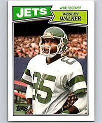 Amazon.com: 1987 Topps #132 Wesley Walker NY Jets NFL Football ...