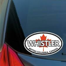 Whistler Oval Sticker Decal Car Truck Window Ski Snowboard Board Canada Olympics Ebay