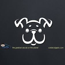 Adorable Puppy Dog Car Vinyl Decal Window Stickers