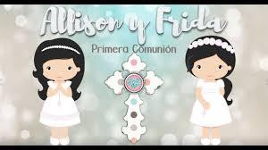 Invitacion Animada Primera Comunion Gemelas Primera Comunion