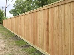 I See Cedar Fences For Miles And Miles This Is Our 1x6 Slats With Some Beauty Boards On The Top And Bottom Cedar Fence Wood Fence Design Wood Fence