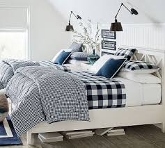 gingham check reversible comforter
