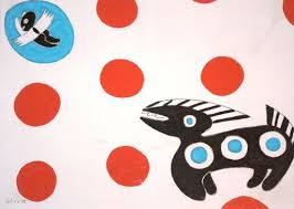 "Red Dots, Flying Baby, and Barking Dog"" by Thelma Johnson Streat ..."