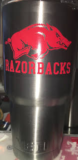 Arkansas Razorbacks Decal For Yeti Tumbler With By Leslisdesigns Razorbacks Cup Decal Yeti Tumbler