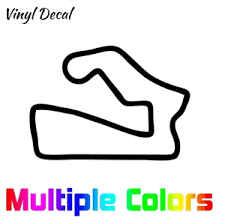Road America Decal Race Track Decals Outline Sticker Helmet Car Ebay