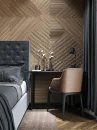 bedroom modern wood wall ideas interior