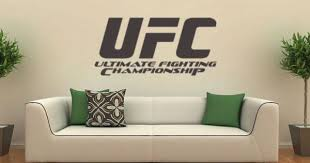 Ufc Art Vinyl Stickers Mma Cage Fighting Martial Arts Octagon Family Wall Decals Wall Decals Family Wall