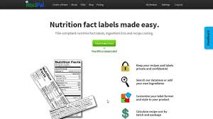 create generate nutrition labels