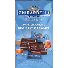 sea salt square caramel chocolate
