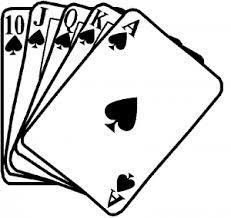 Poker Royal Flush Spades Car Or Truck Window Decal Sticker Or Wall Art Decalsrock