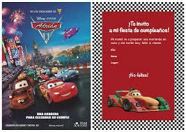 Celebraciones Caseras Invitacion Cumpleanos Cars2 Invitaciones