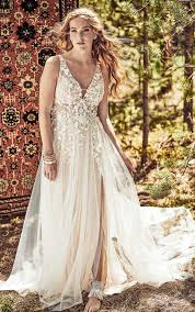 garden inspired gypsy wedding dress