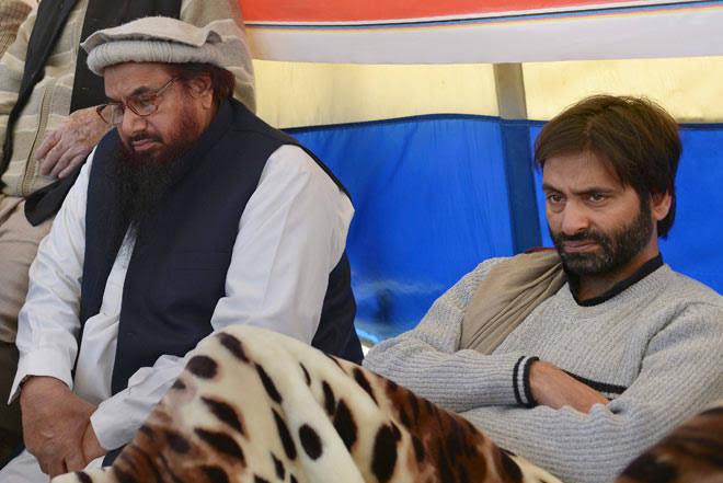 Image result for yasin malik hafiz saeed