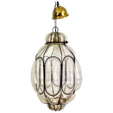 italian blown glass pendant light mid