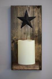 rustic candle wall sconce with included