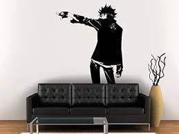 Amazon Com Vinyl Wall Decal Sticker Anime Comics Vampire Boy Gun Japanese Kids Bedroom A67 Home Kitchen