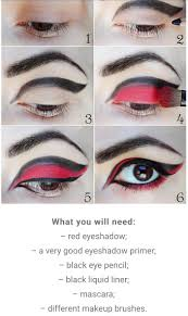 black and red eye makeup by k l musely
