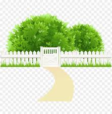 Ath With Fence And Trees Transparent Png Clipart Png Image Tree Background Png Image With Transparent Background Toppng