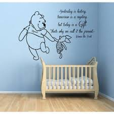 Shop Winnie The Pooh Quotes Children Kids Art Mural Girl Boy Nursery Room Bedding Decor Sticker Decal Size 22x26 Color Black Overstock 14617394