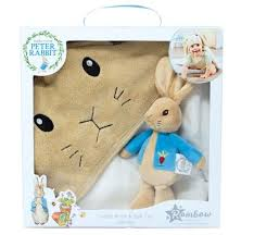 peter rabbit soft toy cuddle robe