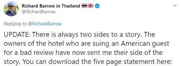 American sued in Thailand over negative Tripadvisor review | Daily Mail  Online