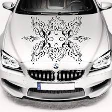 Amazon Com Car Decals Hood Decal Vinyl Sticker Flower Floral Pattern Auto Decor Graphics Os22 Kitchen Dining